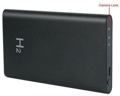 H2 Power Bank 90° Angle Spy Recording Pinhole Hidden Camera