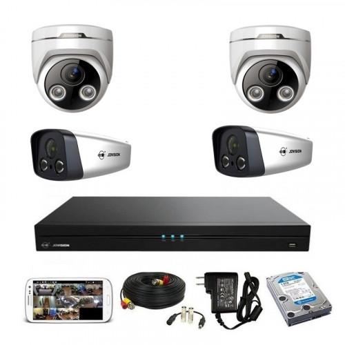 CCTV Package Jovision 4CH NVR 4-Pcs IP Camera 500GB HDD