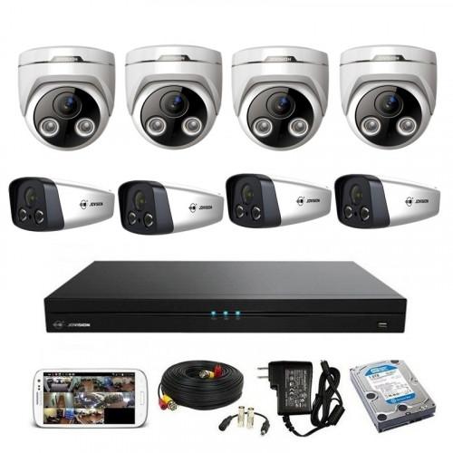 CCTV Package Jovision 8CH NVR 8-Pcs IP Camera 1TB HDD
