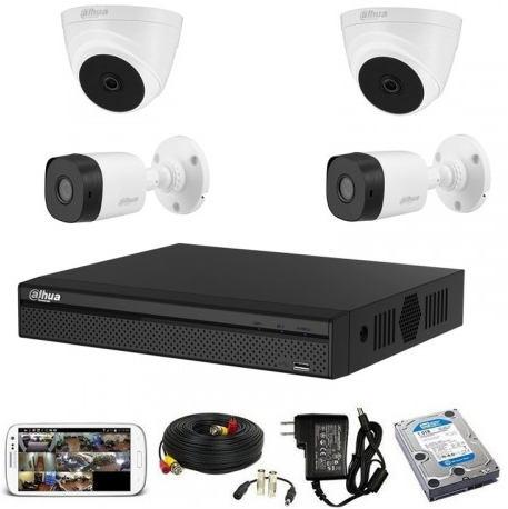 CCTV Package Dahua 4CH DVR 4 PCS Camera 500GB HDD