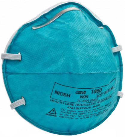 3M 1860 N95 Health Care Particulate Respirator Mask